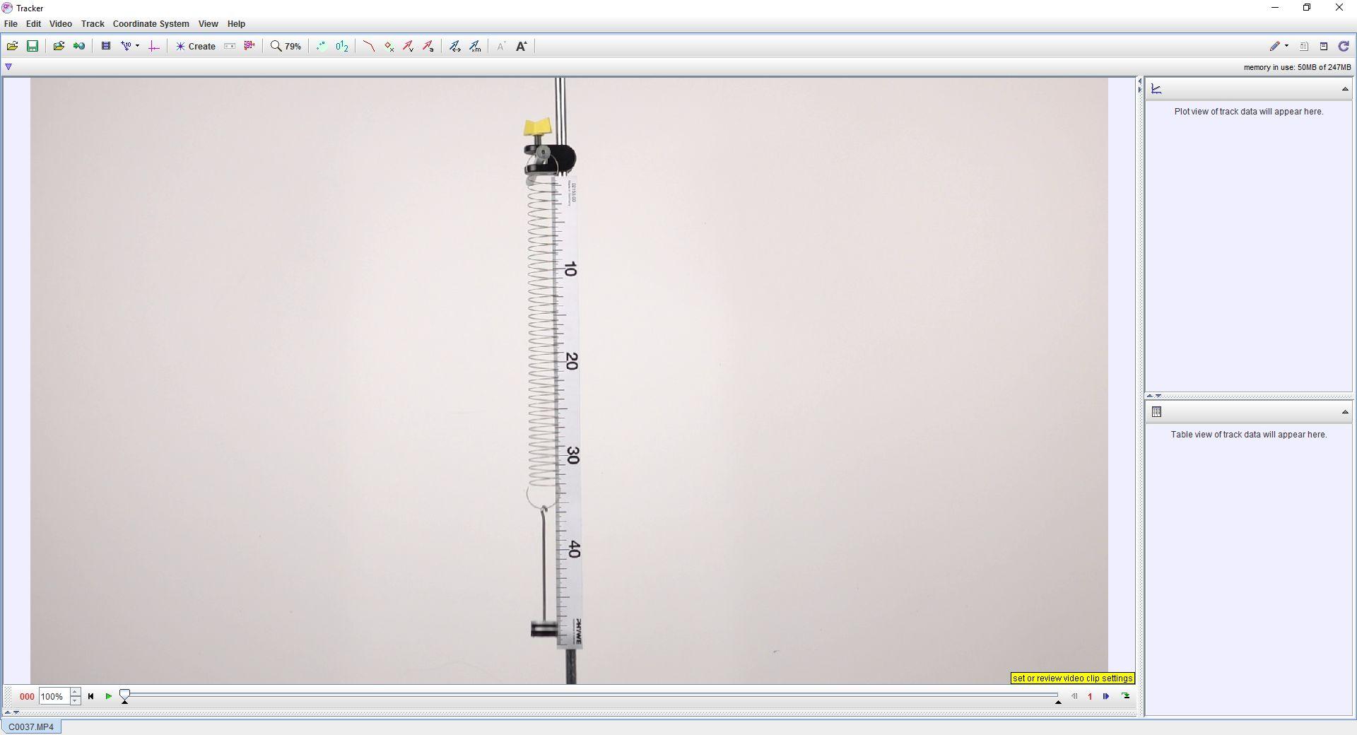 Дослідження коливань пружинного маятника